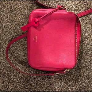Hot Pink Fossil Cross Body